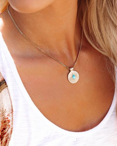 Meghan Bo Designs - Turquoise Medallion Necklace